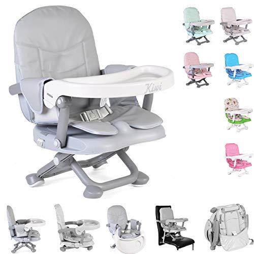 Kinderstuhl Kiwi, Kinder Stuhl-, Sitzerhöhung, Boostersitz, Tisch, klappbar, Farbe:grau