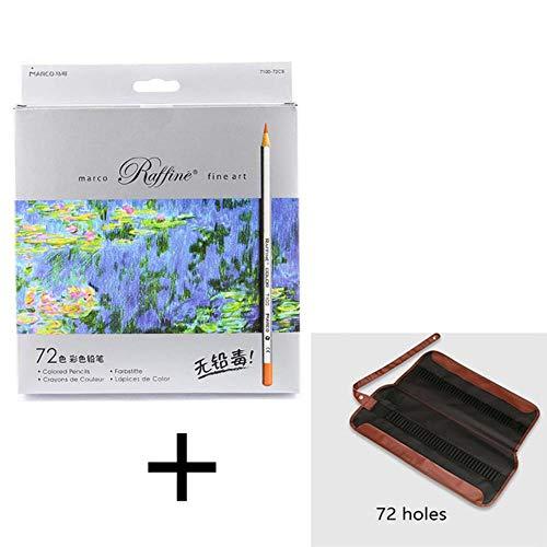 LWLJCFFF 24/36/48/72 stücke Buntstift Malerei Set Lapis de COR ungiftig bleifreie Ölige Farbe Bleistiftschreibfeder, 72 Farbe mit Tasche