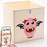 Kallax Pink Bun | 2.0 en realidad aumentada | Cesta para juguetes para niños | Caja para juguetes | Caja de juguetes para niños | Caja de almacenamiento para primera infancia