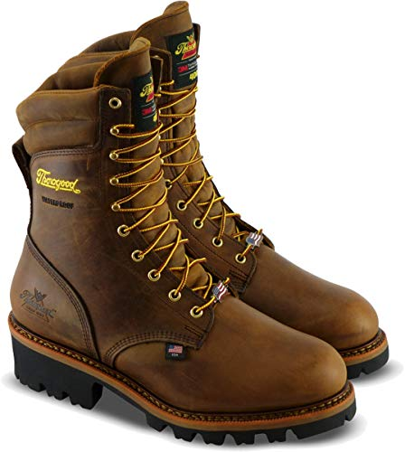 "Thorogood 804-3554 Men's Logger Series - 9"" 400g Insulated Waterproof, Safety Toe Boot, Trail Crazyhorse - 10 M US"