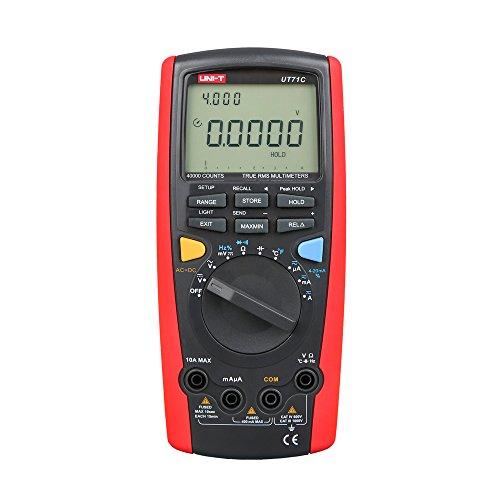 UNI-T UT71 Series multímetro digital inteligente, rojo y gris, 1