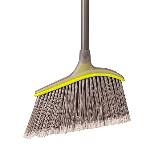 Casabella Wayclean Wide Angle Broom, Gray