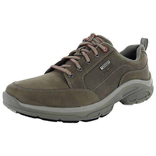 Rockport Men Weather Adventure Blucher Oxford Waterproof Shoe, Grey, US 11