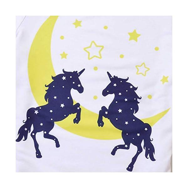 Pajamas for Girls Unicorn Face Pjs Sets Short Sleeve Sleep Night Shirts Clothes