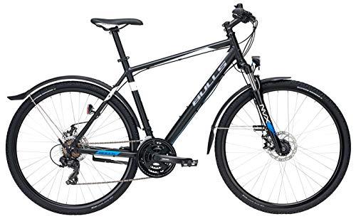 Bulls Herren Fahrrad 28 Zoll - Bulls Wildcross Street Bike - Shimano Schaltwerk, Nabendynamo - schwarz matt