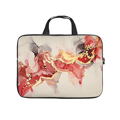 5 tamaños de funda para portátil con textura de mármol, multicolor, resistente al desgaste, bolsillos para tabletas, adecuado para negocios