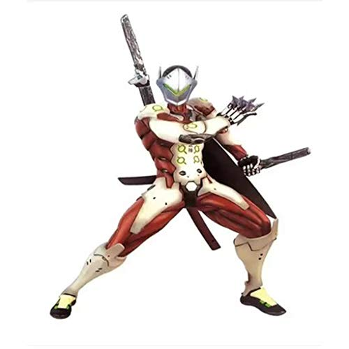 OLDJTK Modelo de Juguete para niños Observar Pioneer Overwatch Death Soldier Genji Statue Edición Limitada Artesanía Decoración Regalos (Color : D)