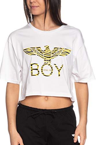 BOY LONDON T Shirt a Manica Corta Donna Bianca
