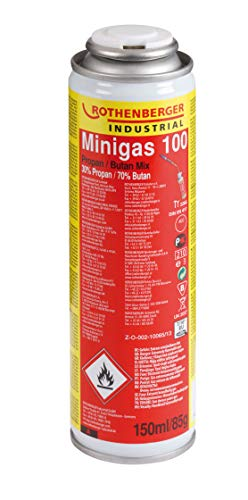 Rothenberger Industrial 35504 Minigas 100-Brenngas-Kartusche-Butan/Propan Gemisch-150ml