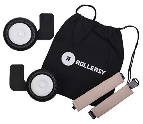ROLLERSY - Räder mit Griff/Tragegurt für eine Babyschale 0-13 kg, Farbe: SOFT ROSE