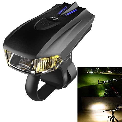 Qiekenao Smart Sensor LED Bike Light Bicycle Front Light, Vibration Usb Wiederaufladbares Fahrrad Frontlicht Wasserdicht Nachtfahrrad Licht