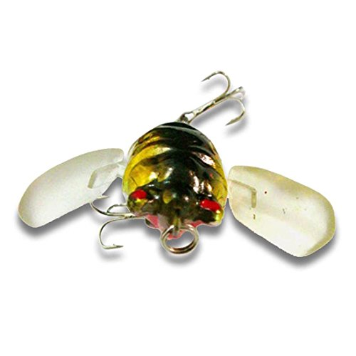 bouti1583 Fishing Tackle Lure Snakehead Bass Killer Insect Cicada Freshwater Bait 6g