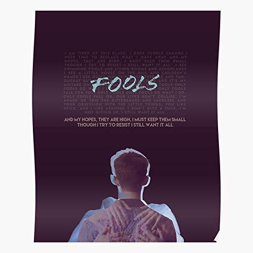 gotopo Gay Wild Only Neighborhood Troye Fools Music Blue Song Sivan Geschenk für Wohnkultur Wandkunst drucken Poster 11.7 x 16.5 inch
