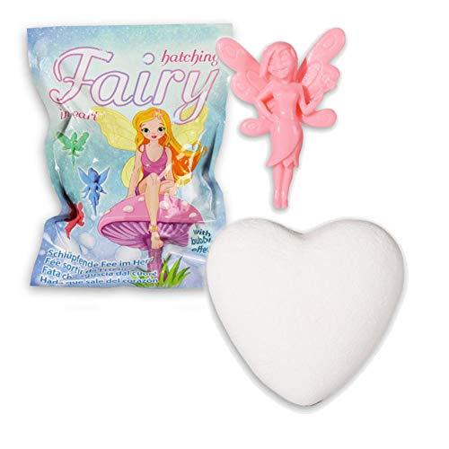 Magisches Sprudelndes Herz mit kleiner Fee 1 Stück Fee Badespaß Kindergeburtstag Mitbringsel Party Geburtstag Kinder