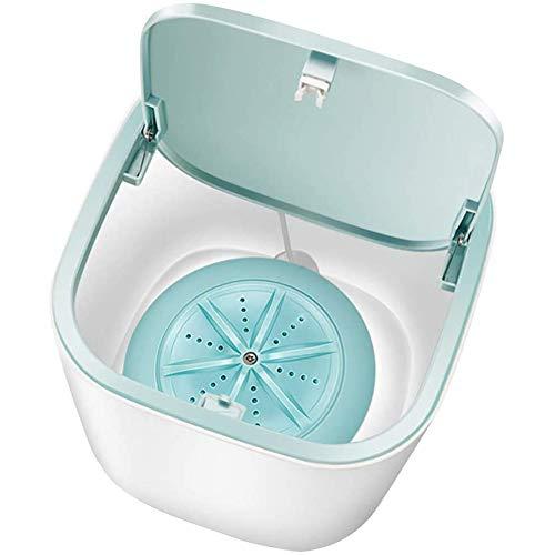 NXX USB Reisewaschmaschine, Camping Mobile Waschmaschine, 2 in 1 Eimer Turbo Ultraschall Waschmaschine Klein Für Reise Wohnungen Hotel,Blau