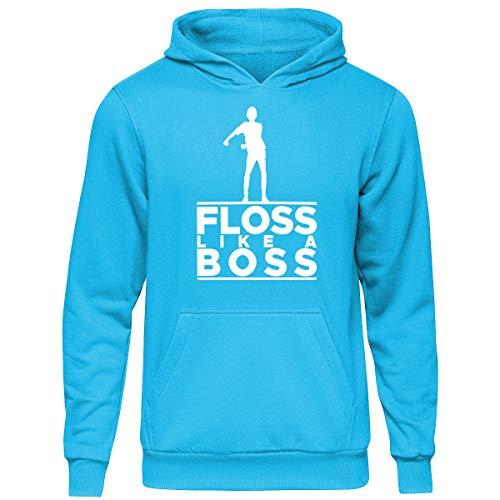 Floss Like a Boss - Sudadera con capucha oficial para niños Azul Azure 12-13 Años