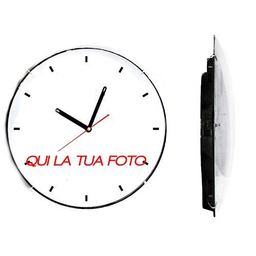 Orologio personalizzato da parete personalizzabile con tue foto e testo diametro 30cm