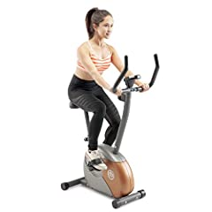 PREMIUM STEEL CONSTRUCTION – This stationary upright bike features a premium frame of 14-gauge steel tubing, finished with powder coating that combines design and performance. It boasts both functionality and durability. SMOOTH MAGNETIC RESISTANCE SY...