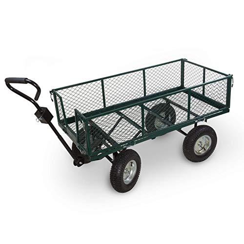 Julido Transportwagen Handwagen Bollerwagen XXL mit Anhängerkupplung 123x61x103cm