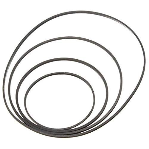 PRINDIY Kleine feine Pulley Gürtel Schwarz 30 mm bis 120 mm Durchmesser Motorantriebsriemen für DIY Spielzeug Modul Auto
