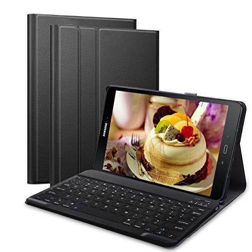 Lachesis Custodia Italiana Tastiera per Samsung Galaxy Tab A 10.1 2019 T510 T515, Tastiera BT per Tablet Samsung Tab a 10.1 2019 Rimovibile Senza Fili, Custodia con Tastiera per Tablet 10.1