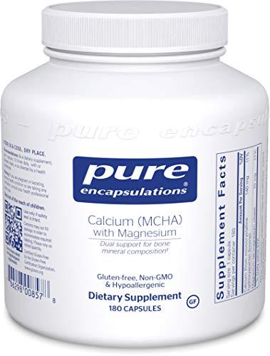 Pure Encapsulations - Calcium MCHA with Magnesium - Hypoallergenic Dietary Supplement for Bone Support - 180 Capsules