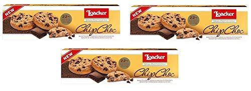 3x Loacker Gran Pasticceria Biscotto con gocce di Cioccolato fondente ChipChoc Keks mit Bitterschokoladestücken kekse biscuits cookies 96g