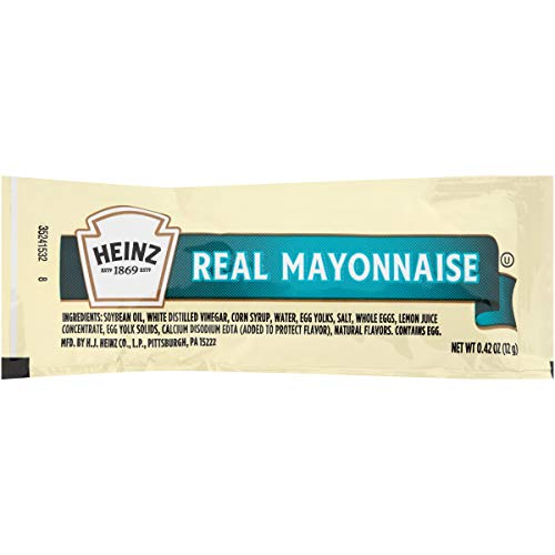 Heinz Real Mayonnaise Single Serve Packet (0.4 oz Packets, Pack of 500)