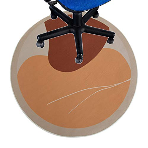 ZWFF Alfombra Silla Oficina Alfombra Redonda Tela Suave Antideslizante Y Resistente Tapete para Silla De 6 Mm para Alfombra(Size:80cm/31in)