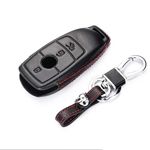 QWSNED Cubierta de la llave del coche, protector inteligente del llavero del cuero,llave del control remoto del protector, para Mercedes-Benz Clase E W213 2018