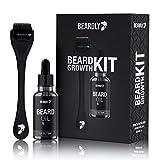 BEARDLY Beard Growth Kit - .2MM Derma Roller w/ Beard Oil for Facial Hair Growth for Men - Grooming...