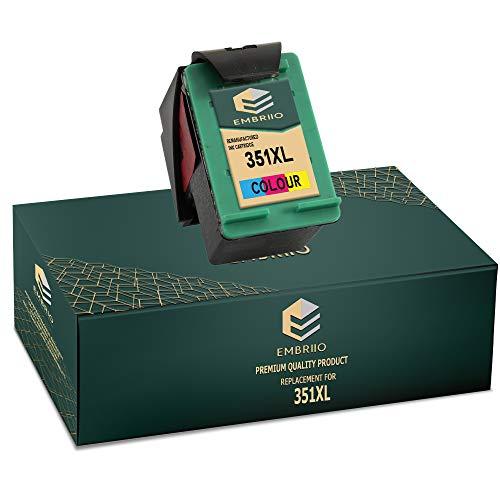EMBRIIO 351 351XL Color Cartucho de Tinta Reemplazo para HP Photosmart C4280 C4340 C4380 C4424 C4480 C4485 C4524 C4580 C4585 C5280 D5360 Deskjet D4260 D4360 Officejet J6424 J5780 J5785