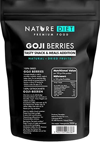 Nature Diet - Baies de Goji 1000 g   Baies séchées   Collation santé
