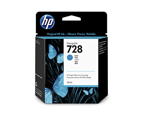 HP F9J63A Tintenpatrone, 728 Original, cyan