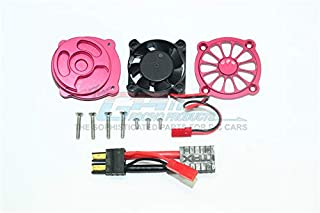 GPM Traxxas Unlimited Desert Racer 4X4 (#85076-4) Upgrade Parts Aluminum Motor Heatsink with Cooling Fan - 1 Set Red