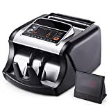 Bill Counter, Money Machine with UV/MG/IR Counterfeit Detection, Money Counter Machine with Batch Mode, 1000 Notes per Minute, LED Display Cash Counter, Doesn't Count Value of Bills MMC01, Black