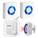 EverNary Caregiver Pager Indoor Motion Sensor Alarm Room Bed Alarms and Fall Prevention for Elderly Dementia Patients/Mailbox Alert Device for Home
