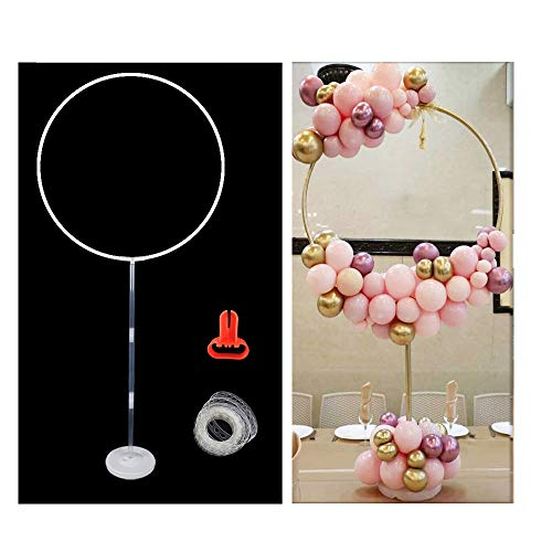 Maygone Balloon Column With Round Arch Stand Balloon Garlands Decorating Strip Tape Kits For Birthday Wedding Baby Shower Party Decorations