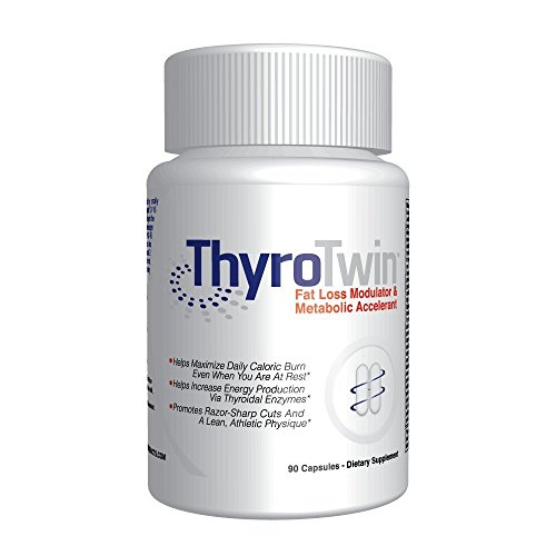 Thyrotwin Caffeine Free Weight Loss Dietary Supplement, Powerful Non Stimulant Thermogenic Fat Burner, 90 Count