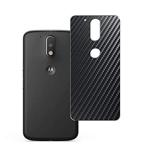 Vaxson 2 Unidades Protector de pantalla Posterior, compatible con Motorola Moto G4 / G4 Plus, Película Protectora Espalda Skin Cover - Fibra de Carbono Negro
