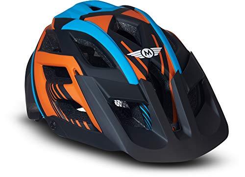 Moto Helmets® Fahrradhelm Unisex für Erwachsene & Jugendliche in Orange Größe M, leicht zu öffnen und anpassbar an die Kopfform