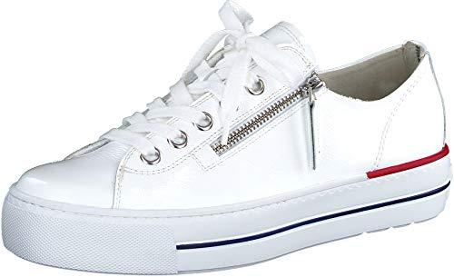 Paul Green Damen SUPER Soft Halbschuhe, Damen Low-Top Sneaker,weiblich,Ladies,Women's,Woman,schnürschuhe,schnürer,Weiß/Silber (018),38.5 EU / 5.5 UK