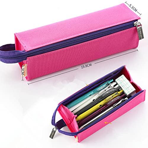 Prospekthülle Einfache Grundschule Schüler Junior High School Student Prospekthüllen Große Kapazität Brieftasche Brieftasche Brieftasche Papierbox Pink