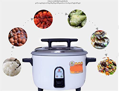 Bianjesus rijstkoker 8 l 10 l met anti-aanbaklaag van aluminium, gemakkelijk te reinigen, binnenvaas, cool touch-greep, capaciteit pan warmhoudfunctie