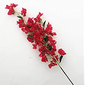 jiumengya 4pcs Long Bougainvillea Artificial Floor Mounted Fake Large Size Bougainvillea Flower 118cm for Wedding Centerpieces Decorative Flower (red)