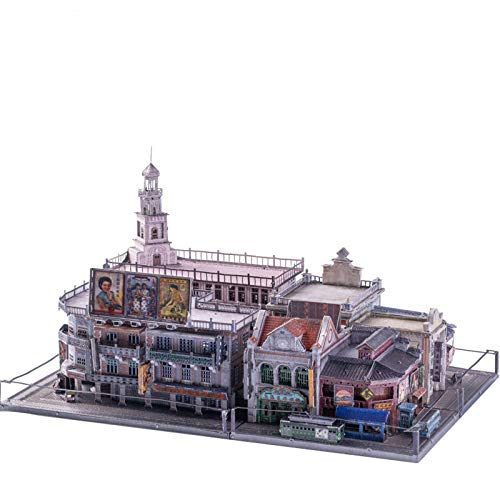 ZCRFYY 3D dreidimensionale Metallbaugruppe Modell handgemachte DIY Gebäude Puzzle Spielzeug handgemachte kreative Shanghai Strand Retro Republik China Stil,Style
