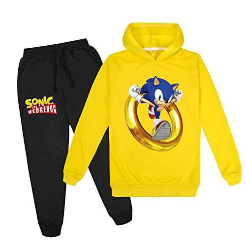 mama stadt Sonic The Hedgehog Sportswear Sets für Mädchen Jungen Hoodies Sweatshirt und Hosen Sportanzug Trainingsanzüge/110