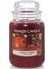 Yankee Candle Doftljus i glas (stor) | semester hjärta | brinntid upp till 150 timmar