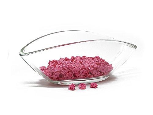 200 roses - Décoration pour mariage - Fleurons satin - Roses 15mm - Set Rose, Pink