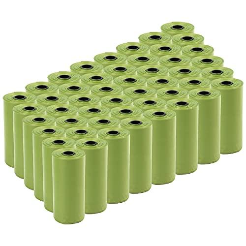 720 Bolsas caca perro Biodegradables Perfumadas,Bolsas Biodegradables Perfumadas para Excrementos perros,gatos, mascotas. Fuertes, Resistente a Fugas, Perfumada.(color verde)